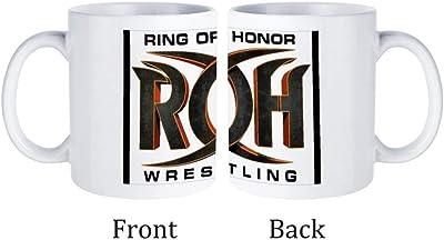 ROH Ring of Honor Wrestling マグカップ ホワイト コーヒーカップ セラミックカップ 耐熱性 無地 330ml オフィス