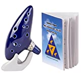 Deekec Zelda Ocarina 12 Hole Alto C with Song Book (Songs From the Legend of Zelda)