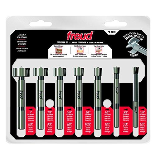 Freud 7 Pcs. Precision Shear Precision Shear Forstner Drill Bit Set (PB-107B)