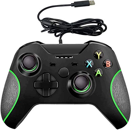 Wired Controller for Xbox One, YCCSKY Xbox One Wired Gaming Controller for Xbox One PC Windows 7/8/10,with Audio Jack Dual-Vibration Turbo (Black)