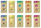 Caja de selección de té La Natura Lifestyle, 100 cápsulas de té compostables industrialmente **, Nespresso®* vertribel, paquete de 10 x 10
