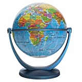 Waypoint Geographic GyroGlobe 4' Educational Blue Oceans - UP-to-Date Compact Mini Globe Swivels in All Directions -...