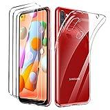 Oududianzi - Hülle für Samsung Galaxy M11+ [3X Panzerglas