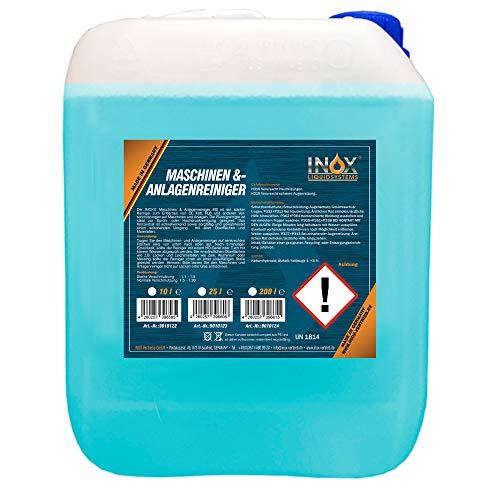 INOX® MS Maschinen- und Anlagenreiniger Konzentrat, 10L - effektiver Industriereiniger zum Entfernen von Öl, Fett und Ruß