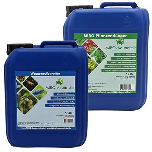 MIBO Wasseraufbereiter und Pflanzendünger 5000ml Sparset Aquariumpflege
