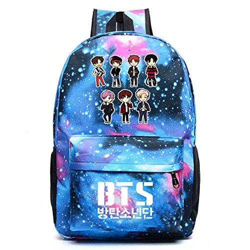 AUGYUESS KPOP Bangtan Boys BTS Schultasche Daypack Bookbag Laptop Tasche Rucksack
