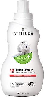 ATTITUDE Hypoallergenic Fabric Softener, 40 Loads 33.8 Fl Oz Pink Grapefruit