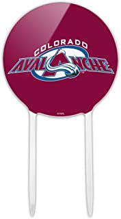 GRAPHICS & MORE Acrylic NHL Colorado Avalanche Logos Cake Topper Party Decoration for Wedding Anniversary Birthday Graduation