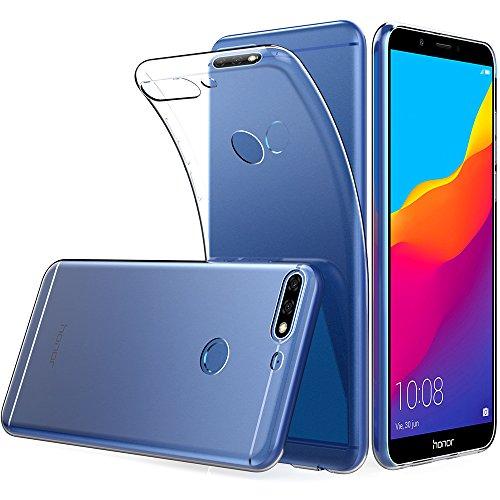 Peakally Huawei Honor 7C / Huawei Y7 Prime 2018 / Huawei Y7 2018 Hülle, Soft TPU Transparent Hüllen [Kratzfest] [Anti Slip] Durchsichtige Schutzhülle Hülle Weiche Handyhülle für Honor 7C 5.99