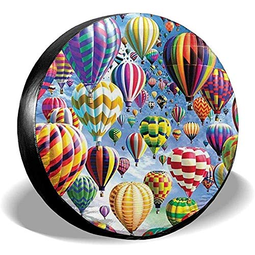 Spare Tire Cover-Waterdichte Universele Wiel Tire Cover Protector-Hot Air Balloon Fit Voor Veel Voertuig
