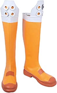 YYFZ Chaussures Anime Cosplay Mascarade Bottes Carnaval Party Chaussures Homme Jaune Haut Bottes sur Mesure