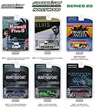 Hollywood Series Release 20, 6pc Set 1/64 Diecast Model Cars by GreenLight 44800