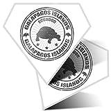 Impresionante 2 pegatinas de diamante de 7,5 cm BW – Galápagos Islands Turtle Ecuador divertidos calcomanías para portátiles, tabletas, equipaje, libros de chatarra, frigorífico, regalo genial #39900