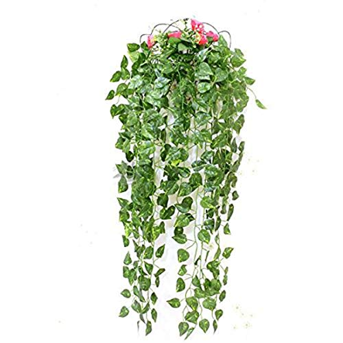 Loisoitos 1pc Green Artificial Pe Leaf Bunchs Scindapsus Garland Plants Fake Foliage Dill Home Decoration - Garland Garland & Plant Garland Leaf Wreath Artificial Artificial Decor Plant Green