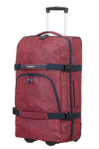 Samsonite Rewind - Reisetasche mit Rollen M, 68 cm, 72.5 L, rot (Capri Red Stripes)