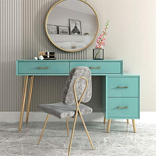 Check Out This HIZLJJ Vanity Table Set Makeup Table with Round Mirror and Stool Small Dressing Table...