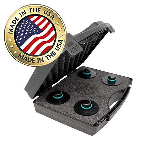 werkzeugbude24 Original jackpad® Wagenheber Adapter passend für Tesla Model 3 - (4 Stück im Koffer) - !!! Kein Gummiadapter !!!