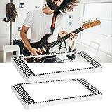CUEA Acero de Calidad, no oxidación fácil, Buena Textura, Marco de Pastilla Curvo, Anillo de Pastilla de Metal, para Guitarras eléctricas