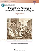 English Songs: Renaissance to Baroque: With a Companion Cd of Accompaniments (Vocal Library)