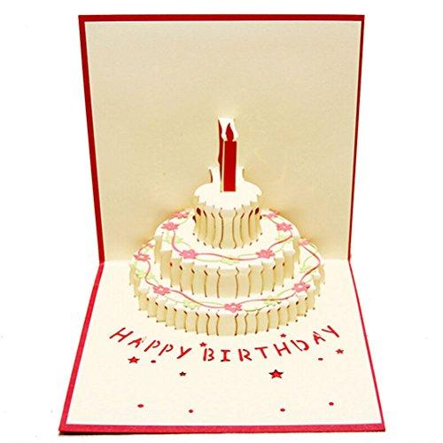 """Paper Spiritz Geburtstagskarte, handgefertigt, 3D zum Aufklappen, mit Schriftzug """"Happy Birthday"""""""