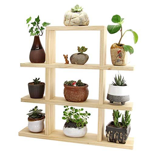 GF Support à fleurs sur pied-Support à fleurs de bureau, Support de fenêtre à fleurs à étages multiples Support à charnière à fleurs, Support de rangement en bois Home