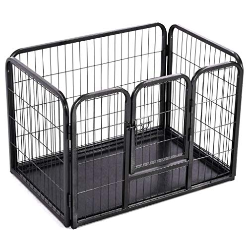 Unfade Memory Puppy Pet Playpen Steel Crate Kennel Exercise Pen Cages for Outdoor and Indoor Use (36.6'x24.8'x24')