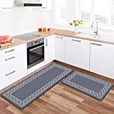 LuxStep Kitchen Mat Set of 2 Anti Fatigue Mat, PVC Non Slip Kitchen Rugs and Mats Waterproof Memory...