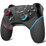 Wireless Controller für Nintendo Switch Remote Controller für Switch,PC,PS3,Andriod Dual Shock, Turbo Funktionen, Gamepad mit 6 Achsen Bluetooth Wireless Pro Controller mit Wiederaufladbarer Akku