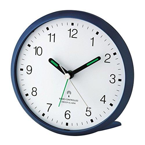 Wetterladen TFA Dostmann 60.1506 Lautloser Analoger Funkwecker mit Sweep-Uhrwerk (Blau)