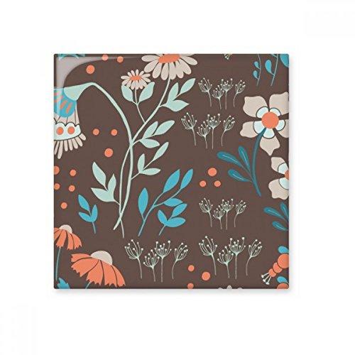 DIYthinker Planta de la flor marrón pintura brillante baldosa cerámica de baño Cocina muro de piedra decoración artesanal de regalo