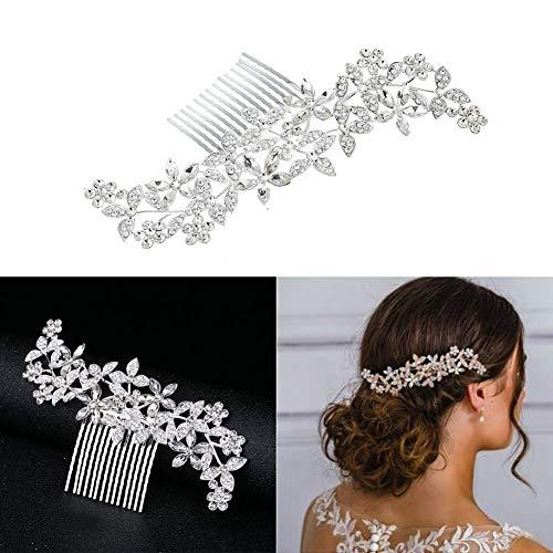 Dusenly - Peineta para el pelo con cristales de estrás para novia,...