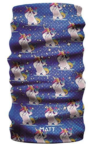 MATT - Bufanda infantil con bonitos motivos, color MA: Unicornio.