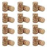 BESTONZON 100 unids de Corchos de Vino Tapones de Botella de Corcho Natural/Corchos de Vino/Corcho para Manualidades,decoración y pasatiempos(2.1 x 4 cm)
