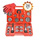OrionMotorTech 24PCS Master Disc Brake Piston Caliper Compressor Spreader Tool Set | Brake Pad Replacement Reset Wind Back Kit