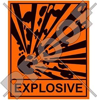 Explosive Sicherheit Warnung Zeichen, Explosion Gefahr 10,2cm (100mm) Vinyl Aufkleber, Aufkleber