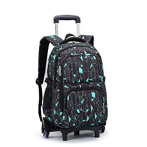 Blanketswarm Rolling zaino su ruote ad alta capacità, per la scuola per bagaglio scuola viaggio libro portatile, perfetto per uomini e donne, taglia unica, A5, 12.6X19.3X7.1 inches
