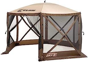 تنظیم سریع 9879 پناهگاه فرار ، راه انداز قابل حمل با مقاومت بالا در برابر تابش 140 140 140 اینچ گشودنی و تنظیم آسان حفاظت از باران (6-8 نفر) ، قهوه ای / بژ