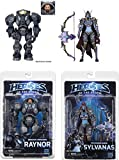 Blizzard's Heroes Of The Storm Action Figures 7' Scale Series 3 2er SET (Raynor & Sylvanas)