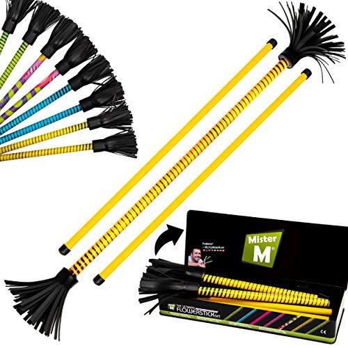 Mister M ✓ Das Ultimative Flowerstick Set ✓ Jonglier Flowerstick ✓ Stöcke ✓ Zusammenklappbar ✓ Online Video ✓ Geschenkbox