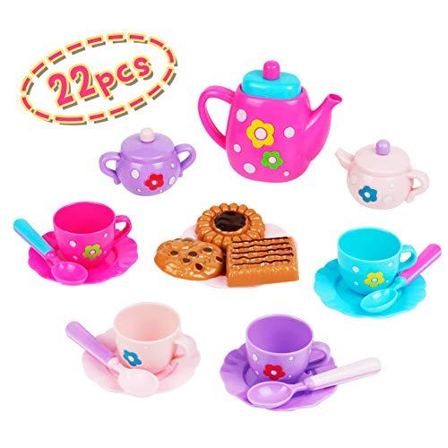 Juguete de Café y Té Set Cocinas de Juguete, Alimentos de Juguete, Juguetes de Pastel para Niños 3 4 5, 17 PCS