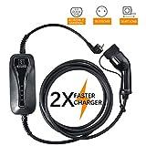 TOPQSCTipo 2 EV Cargador (estándar Europeo) Cable de Carga para Coche eléctrico wallbox, Cargador de EV portátil 16A 7.5m / 16.4ft (16A 7.5M)