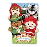 Melissa & Doug Fairy Tale Friends Hand Puppets - The Original (Set of 4, Little Red Riding Hood, Wolf, Grandmother, Woodsman, Great Gift for Girls & Boys - Kids Toy Best for 2, 3, 4, 5, 6 Year Olds)