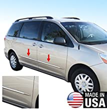 Made in USA! Works with 2004-2010 Toyota Sienna LTD Only Body Side Molding Accent Trim Overlay 4PC