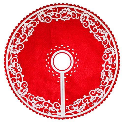 LIOOBO 1 pz 30cm Gonna per Albero di Natale Chic Pratico Creativo Durevole Base per Albero Decorazione Albero di Natale Decorazione per Ballo Ballo di fine Anno (Piccolo)