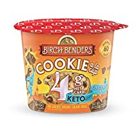 Chocolate Chip Cookie Mug Cake Cups by Birch Benders, Keto Dessert, Grain-Free, Gluten-Free, only 4 Net Carbs (8 Single Serve Cups)