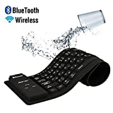 BESTEK Foldable Soft Silicone Portable Roll-up BLUETOOTH 3.0/2.0 Wireless Bluetooth Keyboard for IPAD 4,New iPad 3,IPAD 2,Ipad mini, iPhone 3GS 3G 4,Ipod Touch, Mac Pro, Laptop Desktop computer