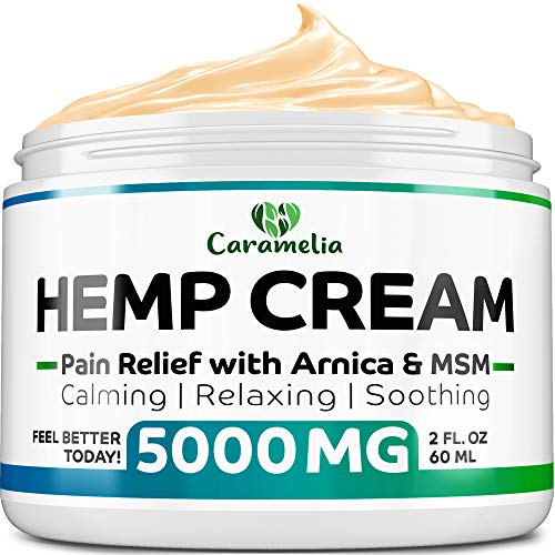 Hemp Oil Cream for Pain Relief 5000 - Verified Hemp Oil - Ultimate Hemp Power - Grown & Made in USA - Anti Inflammatory Formulation - Helps with Joint, Back, Knee, Arthritis Pain & Joint Support