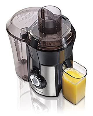 Hamilton Beach 040094922635 (67608A) Juicer, Electric, 800 Watt, Easy to Clean, BPA Free, Large, Silver (Renewed)