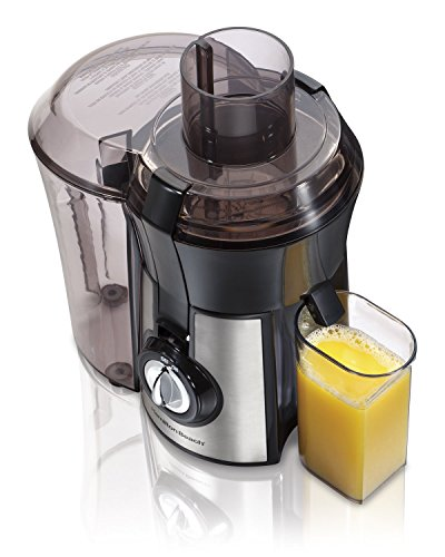 Hamilton Beach 040094922635 (67608A) Juicer, Electric, 800 Watt, Easy to Clean, BPA Free, Large, Silver (Renewed)