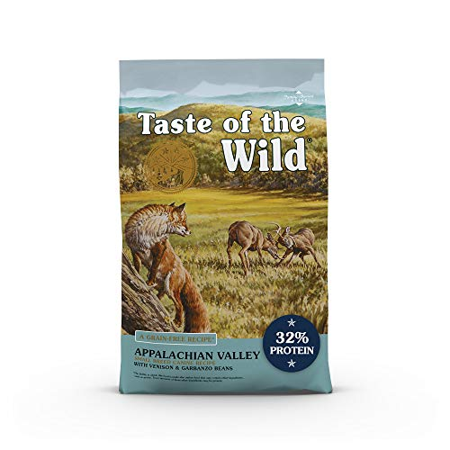 Taste of the Wild Grain Free High Protein Real Meat Recipe Appalachian Valley Premium Dry Dog Food (418037), 14-Pound